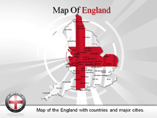 England Powerpoint Map Template