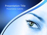 Medical powerpoint templates - Eye effect