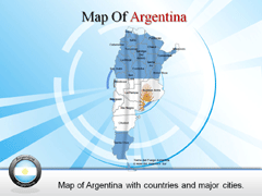 Detailed  Argentina PowerPoint map