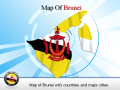 Extended And Complete Brunei PowerPoint map
