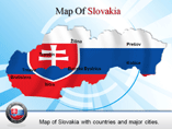 Map of Slovakia with Cities Powerpoint Map Templates