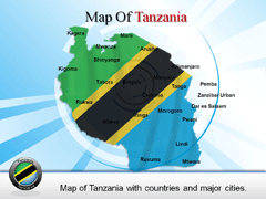 Extended  Of Tanzania powerpoint map