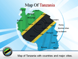 Tanzania Powerpoint Map Template