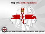 Northern Ireland Map Powerpoint Templates