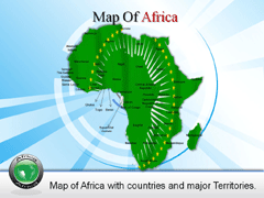 Detailed  Africa PowerPoint map