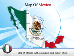 Complete Detailed  Of Mexico PowerPoint map