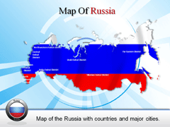 Detailed  Russia PowerPoint map