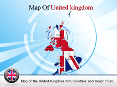 Complete Detailed  Of United Kingdom PowerPoint map