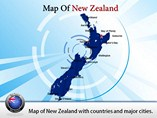 Printable New Zealand Map  Powerpoint Template