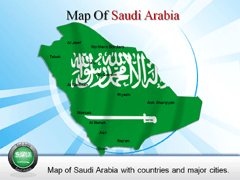 Saudi Arabia Extended PowerPoint map