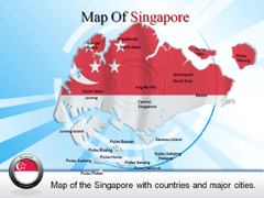 Singapore Complete  With Cities PowerPoint map