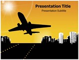 Airplane takeoff Powerpoint Templates