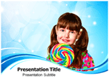 Candy Girl PPT Templates