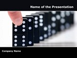 Technology Powerpoint Templates  - Dominoes effect II