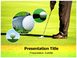 Golf Clubs Online Powerpoint Template