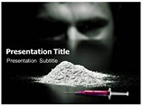 Drug Addict  PowerPoint Template