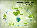 Product Life Cycle Green Powerpoint Templates