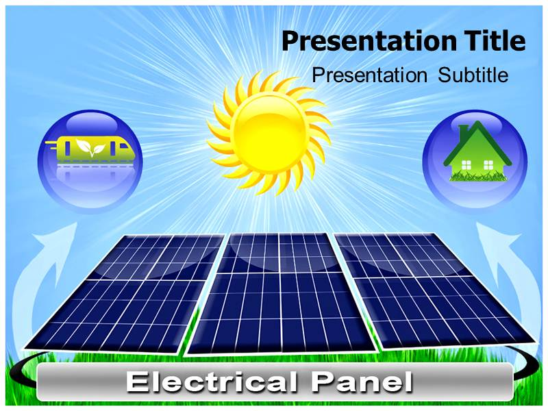 Solar Energy Geothrmal PowerPoint Template