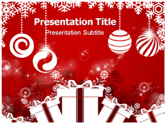 Merry Christmas Candy Powerpoint Template 03531