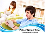 Digital Library Powerpoint Template, PPT Templets