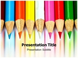 Colored Pencil Powerpoint Template