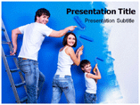 Powerpoint Template on Wall Painting Stencils
