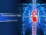 Medical powerpoint templates - Heart Line