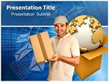 Courier Powerpoint Template