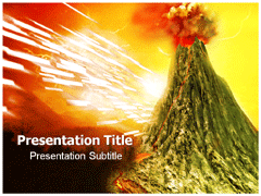 Volcano powerpoint templates and backgrounds add to favorites toneelgroepblik Gallery
