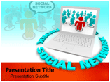 Powerpoint Template on Social Network Theme