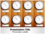 Time Distribution PowerPoint Background