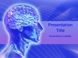 Medical powerpoint background - Human brain