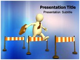 Work Hurdles Powerpoint Templates