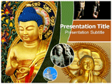 Buddhism Temple Powerpoint templates