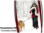 Snowfall powerpoint templates
