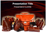 leather products Powerpoint Templates