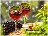 Wine Glasses PowerPoint Templates