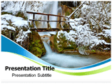 Snow Fall Map PowerPoint Templates