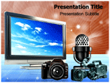 Electronic Media Powerpoint Templates