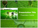 Farming Machinery Powerpoint Templates