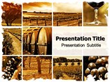 Wine montage PowerPoint Templates
