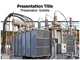 Power plant transformer PowerPoint Templates