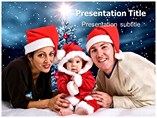 Christmas Family 1 Powerpoint Templates