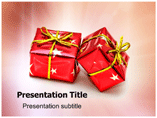 Christmas Gift Box Powerpoint Templates
