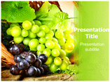 Grapes Typess Powerpoint Templates