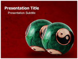 Chinese Therapy Balls Tecniques powerpoint templates