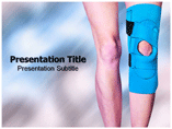 Knee brace powerpoint templates