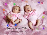 Twins Babies - Powerpoint Templates