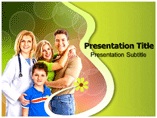 Healthy Family Powerpoint Templates