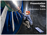 Wind Tunnel Engenier Powerpoint Templates